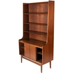Danish Midcentury Bookcase or Secretary in Teak by Johannes Sorth