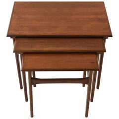 Set of Three Danish Midcentury Teak Nesting Tables