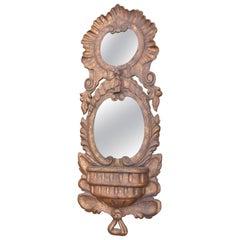 Spanish Baroque Double Mirror Wall Pocket