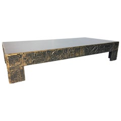 Adrian Pearsall Craft Associates Brutalist Sculpted Resin Large Coffee Table