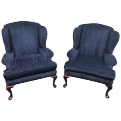 Pair of Century Furniture Wingback Chairs
