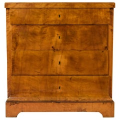 Antique 19th Century Swedish Biedermeier Birch Chest of Drawers
