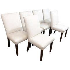 Custom Set of Six Contemporary Dining Chairs