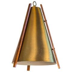 Midcentury Danish Brass Pendant Lamp