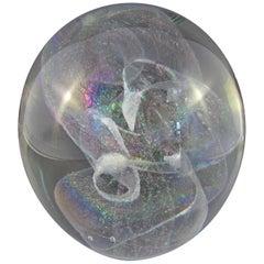 Signed Robert Stephan Dichroic Art Glass Paperweight