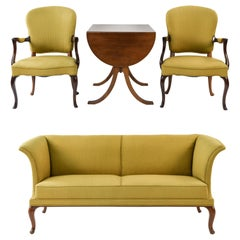 Frits Henningsen Suite Including a Sofa, Armchairs and Saloon Table