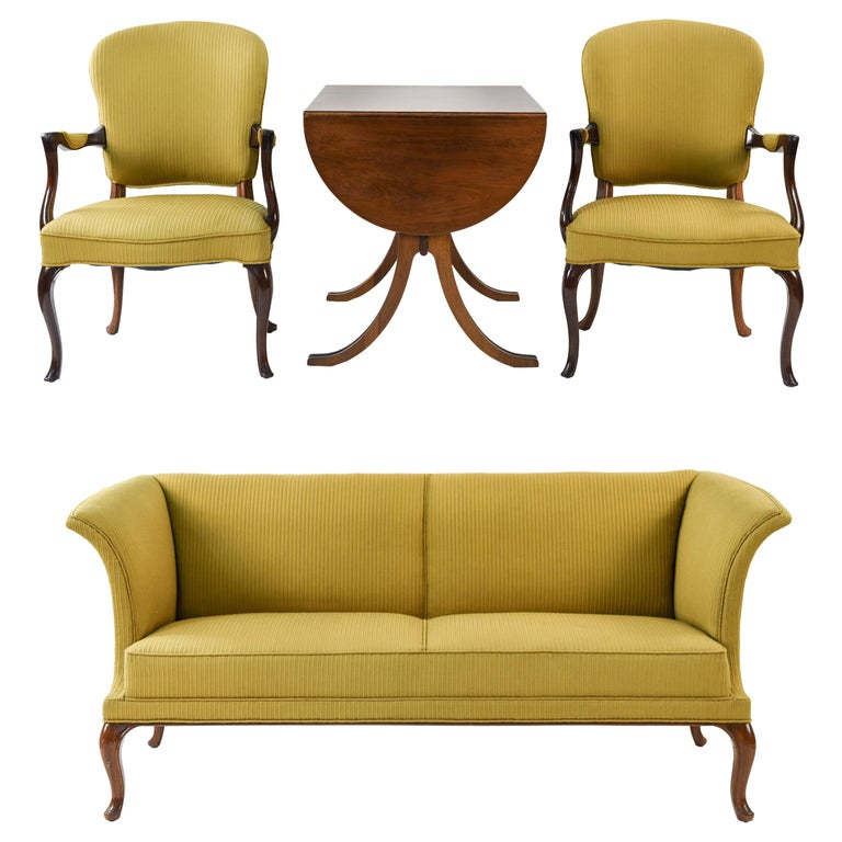 Frits Henningsen Suite Including a Sofa, Armchairs and Saloon Table For Sale