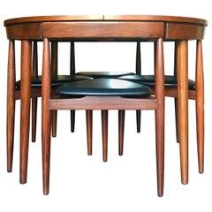 Roundette Dining Set with Extending Table by Hans Olsen for Frem Røjle, Denmark