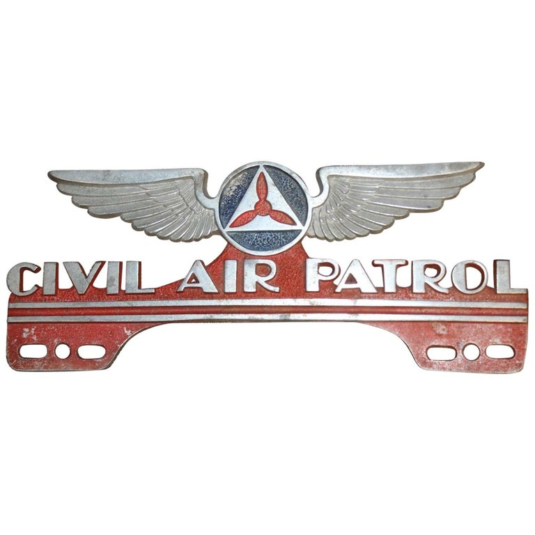 1940s-1950s Civil Air Patrol License Plate Topper