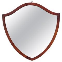 English Regency Style Shield Shape Mahogany Mirror