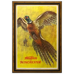 """Winchester """"Pheasant Shooting"""" Western Advertisement Poster, circa 1955"""