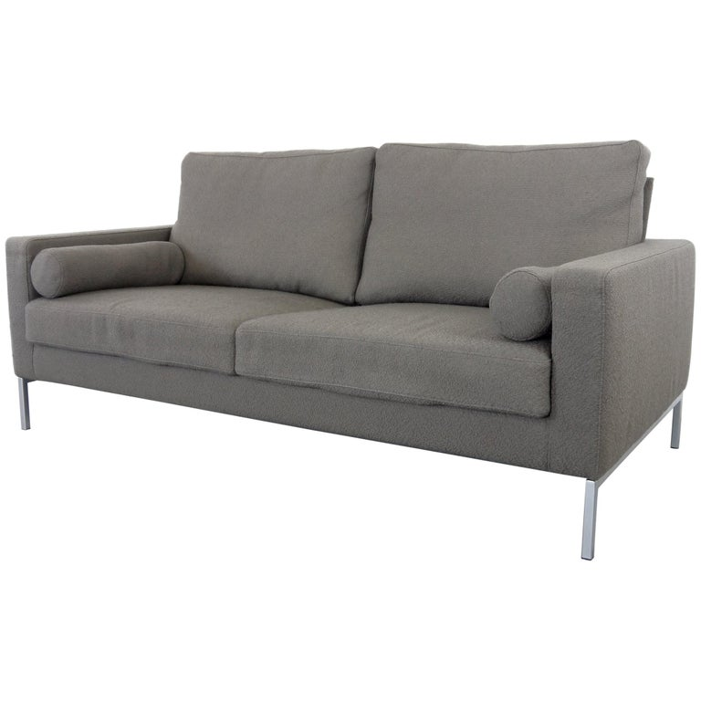 Adjule Cubic Lounge Sofa By Hansulrich Benz For Walter Knoll In Grey Fabric