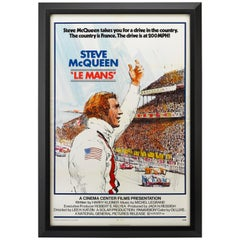 "Steve McQueen ""LeMans"" Vintage Movie Poster, 1971"