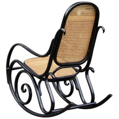 Michael Thonet Black Lacquered Model No.10 Rocking Chair