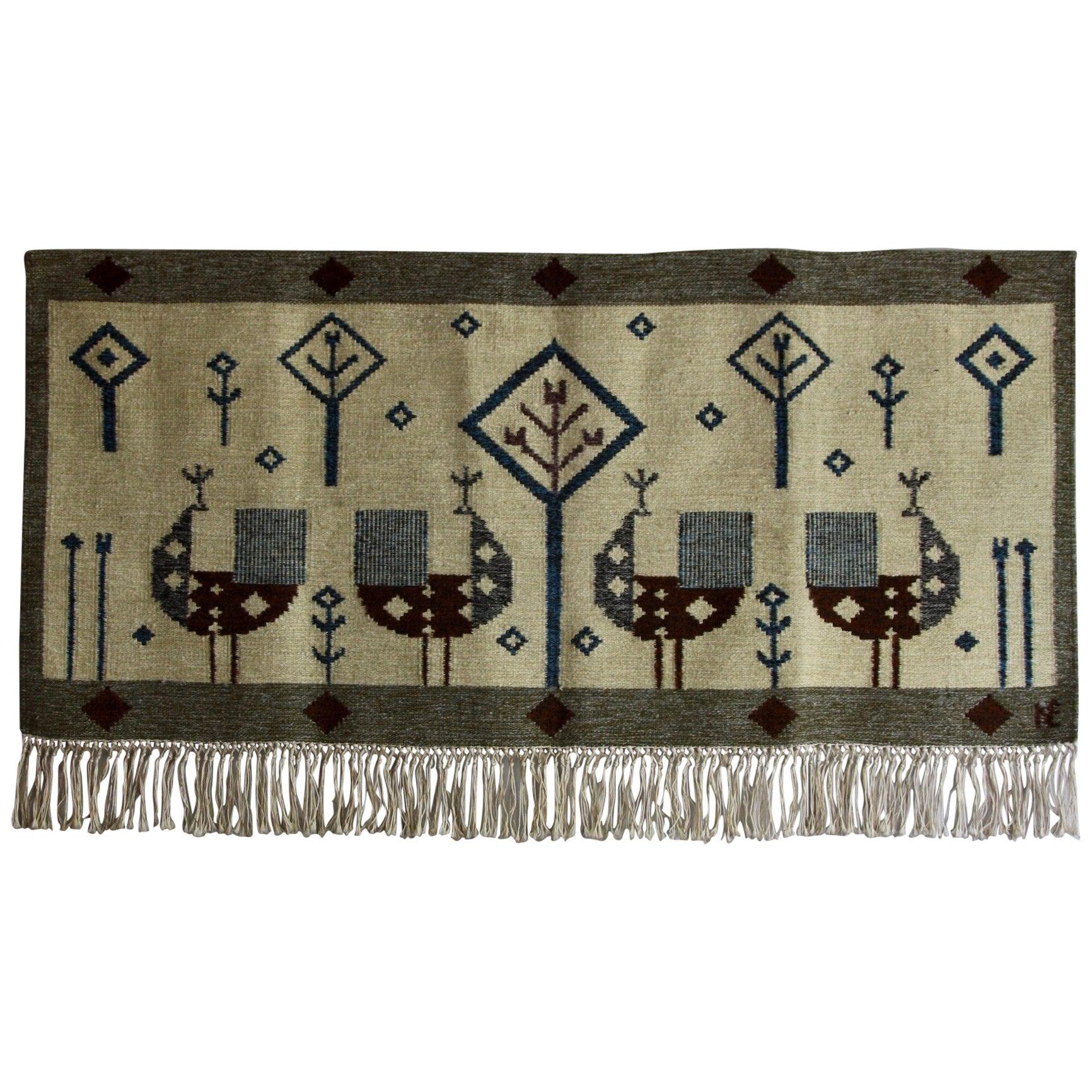 Èva Németh Vintage Hungarian Wall Tapestry #10, C.1950
