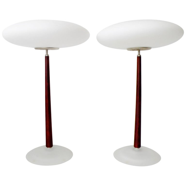 """Pair of Arteluce """"Pao"""" Saucer Lamps by Matteo Thun For Sale"""