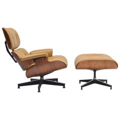 Herman Miller Rosewood Lounge and Ottoman by Charles and Ray Eames, 1960s