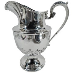Traditional Antique American Sterling Silver Water Pitcher