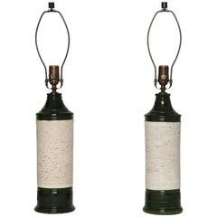 Bitossi Ceramic Table Lamps for Bergboms, Pair