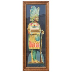 1920s-1930s Cremo Cigar Native American Framed Cardboard Ad
