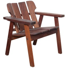 "Sergio Rodrigues ""Taj"" Solid Vinhatico Wood Slatted Chair, Brazil"