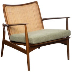 Ib Kofod-Larsen Walnut Spear Chair, Denmark