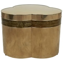 Bronze Trefoil Side or Coffee Table Base by Bernhard Rohne for Mastercraft