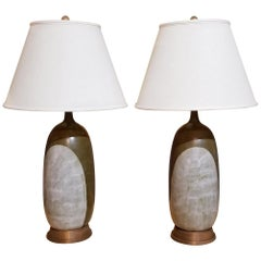 Large-Scale Mid-Century Modern Ceramic Lamps
