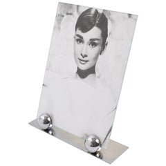 Art Deco 1930s Modernist Chrome Picture Photo Frame