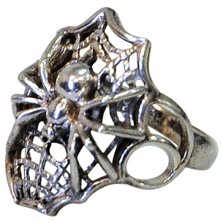 Spider Silver Ring 1950s-1960s, Scandinavia