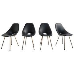 Medea, Super Elegants Set of Four Chairs, Vittorio Nobili, Tagliabue, Italy 1954
