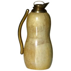 1950s Aldo Tura by Macabo Midcentury Italy Goatskin Carafe with Label