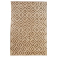 Berber Hand-Knotted 6x4 Floor Rug in Wool by The Rug Company