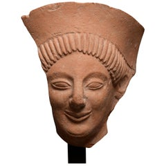 Archaic Greek Terracotta Protome Fragment, 6th Century BC