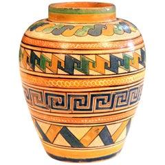 Old Vintage Mexican Pottery Vase Petatillo Tlaquepaque Tonala Talavera