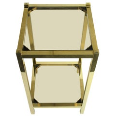 Vintage Brass Two-Tier Display Table, 1970s
