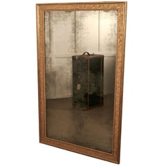 Large Heavy French Gold Shabby Wall Mirror