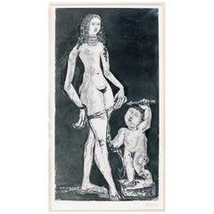 """""""Venus et L'Amour, d'Apres Cranach"""" by Pablo Picasso, 1949"""