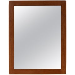 Danish Midcentury Teak Mirror