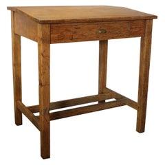 1920s American Foreman's Oak Desk / Hostess Stand