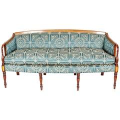 Vintage Sheraton Style Mahogany Framed Sofa