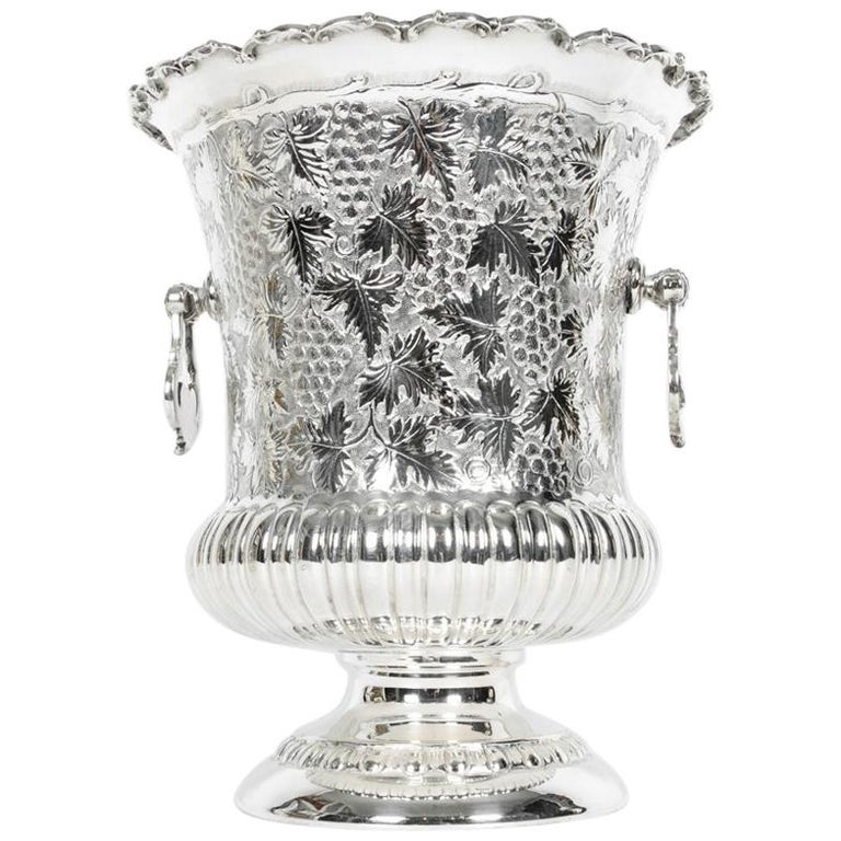 Antique Sterling Silver Wine Cooler with Handles