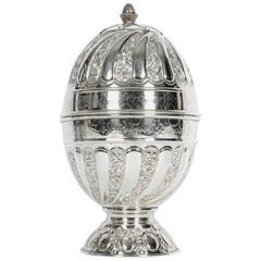 Old Sheffield Silver Plated Egg Shape Liquor Cave