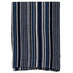 Vintage African Indigo Handwoven Bedcover