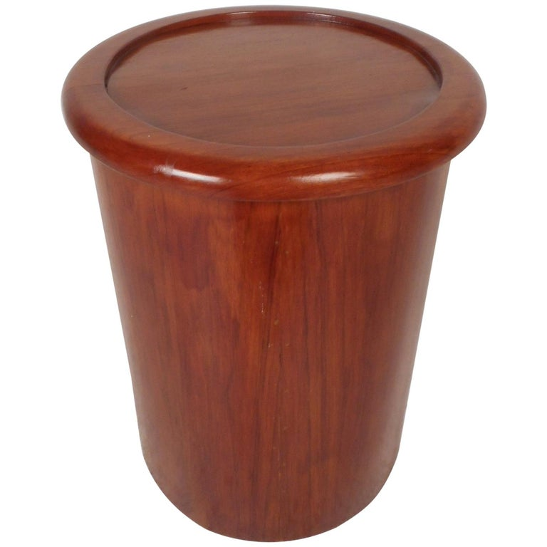 Mid-Century Modern Cylindrical Side Table or Pedestal