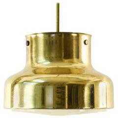 "Anders Pehrson ""Bumling"" Brass Ceiling Pendant for Atelje Lyktan, Sweden, 1970s"