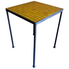 Mosaic Glass Side Table in the Style of Paul Mc Cobb
