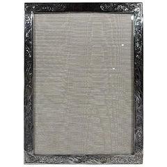 American Edwardian Art Nouveau Sterling Silver Picture Frame