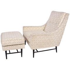 Paul McCobb Lounge Chair and Ottoman, 1960s
