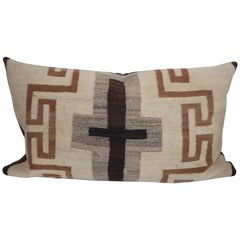19th Century Navajo Indian Weaving Bolster with Cross